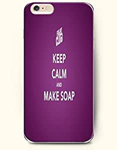 iPhone Case,iPhone 6 Plus (5.5) Hard Case **NEW** Case with the Design of keep calm and make soap - Case for iPhone iPhone 6 (5.5) (2014) Verizon, AT&T Sprint, T-mobile by icecream design