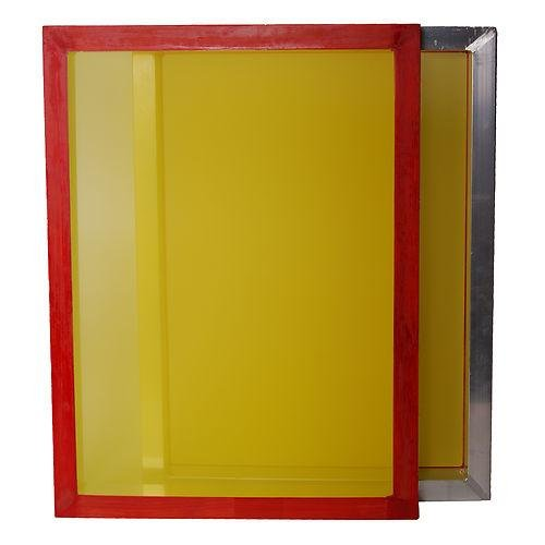 Aluminum Frame Printing Screens, Size 23''x31'' w/ 305 tpi Yellow Mesh Pre-stretched (12 Pack)