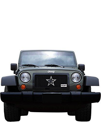 RBP RBP-254482 RL Series Black Plain Frame Main Grille for Jeep Wrangler