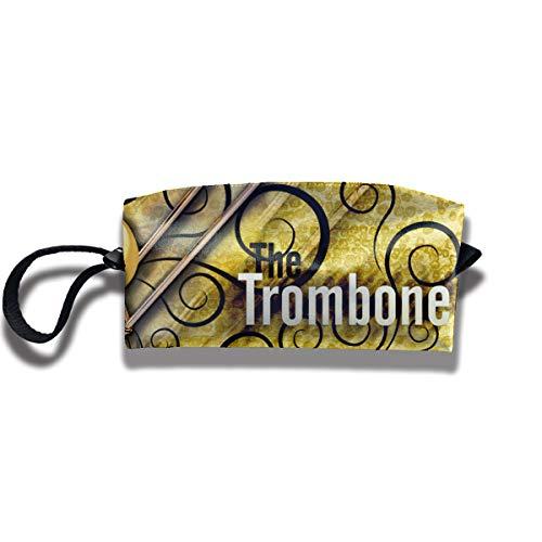 (Jessent Coin Pouch Trombone Pen Holder Clutch Wristlet Wallets Purse Portable Storage Case Cosmetic Bags Zipper)