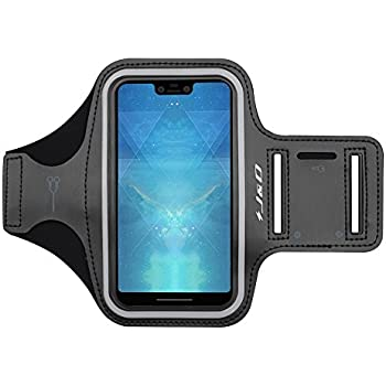 J&D Armband Compatible for Google Pixel 3 XL Armband, Sports Armband with Key Holder Slot for Google Pixel 3 XL Running Armband, Perfect Earphone Connection ...