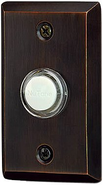 NuTone NB2133RB Recess Mount Decorative Door Chime Push Button, Oil-Rubbed Bronze by Broan