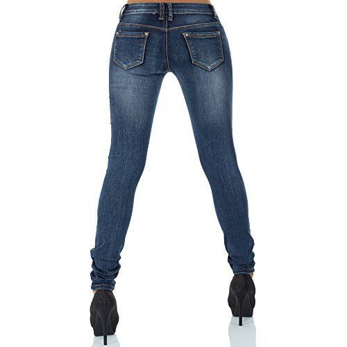 Vaqueros malucas para skinny Azul mujer 8qqBZ