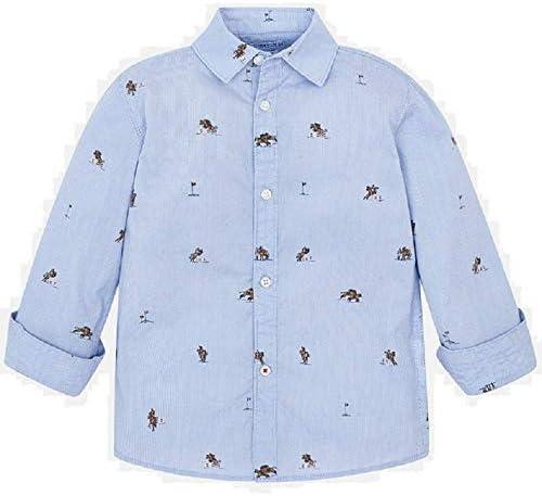 Mayoral Camisa Manga Larga Estampada niño Modelo 4121: Amazon.es: Ropa y accesorios