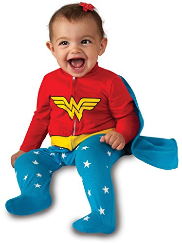 [Rubie's Costume Baby Girl's DC Comics Superhero Style Baby Wonder Woman Costume, Multi, 0-6 Months] (3 Family Costumes)
