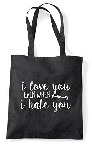 Statement Love Shopper Hate Bag Black I You Tote Even When nRPSTxqS