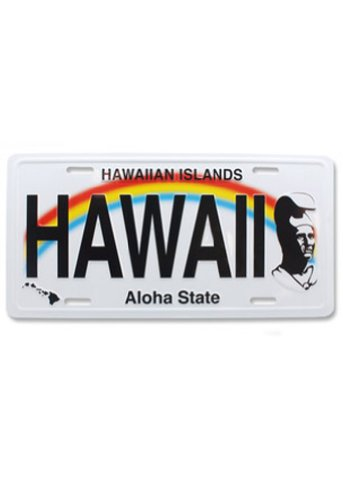Hawaii Souvenir License Plate The King - Shops Kings Hawaii