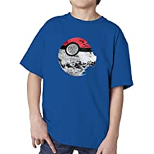 BBT Kids Boys Girls Pokemon Star Wars Death Star T-shirt Tee