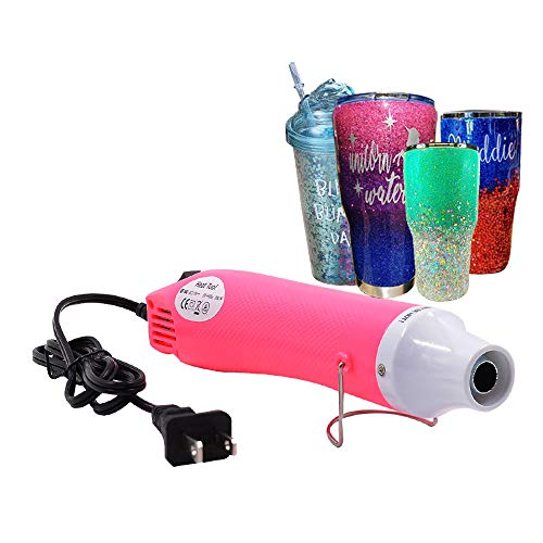 (Bubble Buster Tool for Making Epoxy Glitter Tumblers,pecially-Made Mini Heat Gun for DIY Acrylic Resin Cups Tumblers,Seal Wax Melting,Remove Air Bubbles(Pink))