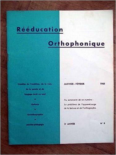 ORTHOPHONIQUE TÉLÉCHARGER REVUE RÉÉDUCATION