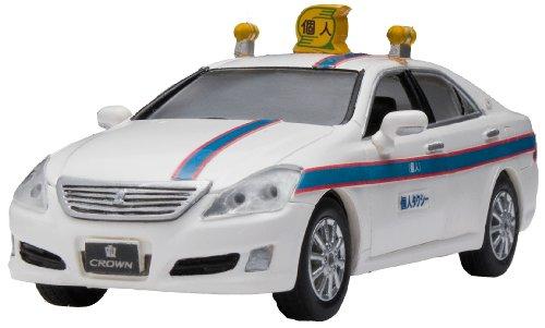 1/43 クラウンタクシー(ホワイト×ブルー) 「ダイヤペット タクシー・バスコレクション」 DK-4107