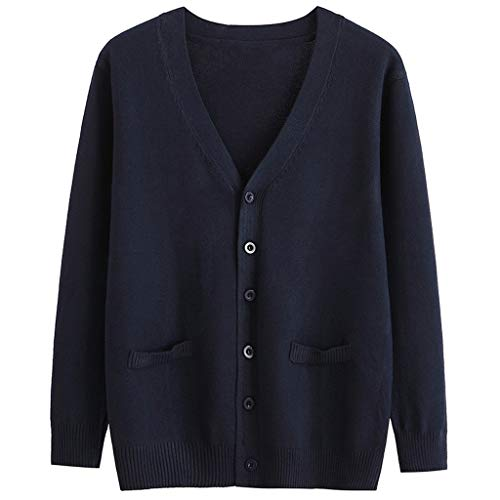 ITLOTL Women Cardigan Sweater Campus Top Long Sleeve Blouse Loose Coat