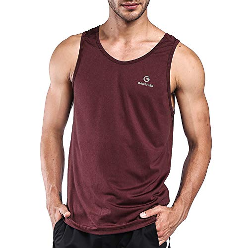 Ogeenier Men's Training Quick-Dry Sports Tank Top Shirt for Gym Fitness Bodybuilding