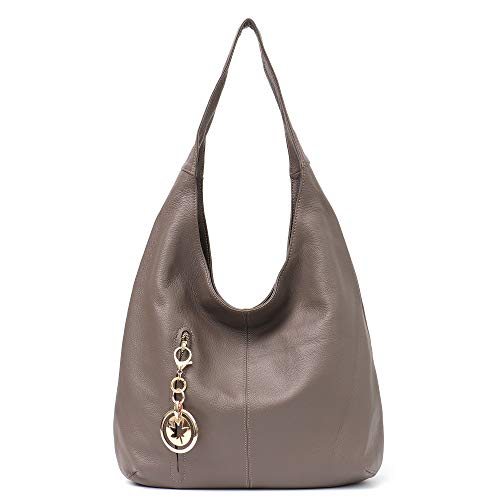 d058a3a1b201 Women Hobo Bags STEPHIECATH Fashion Luxury Real Cow Leather Soft Large Tote  Top-handle Shoulder