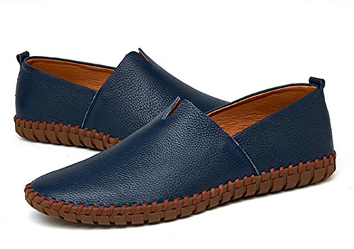 Footwwears Navy Oxford XIUWU Driving ONS Pleather Slip Shoes Men's Comfy Soft qFF4xwRvz