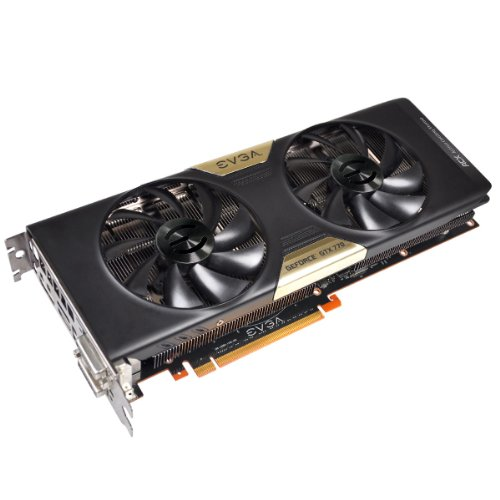 - EVGA GeForce GTX 770 FTW 4GB Dual DisplayPort HDMI DVI-I/DVI-D Graphics Card with ACX Cooler 04G-P4-3776-KR