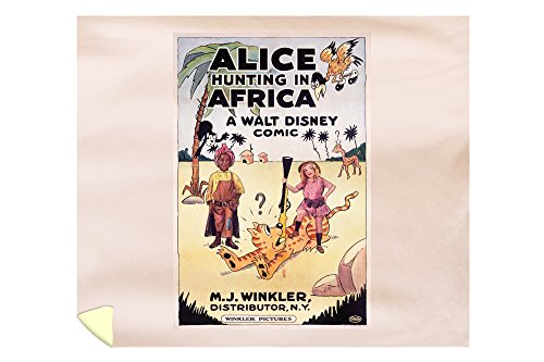 Alice Hunting in Africa Vintage Poster USA c. 1926 (88x104 King Microfiber Duvet Cover) by Lantern Press