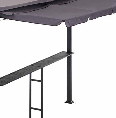 Sunjoy Double Roof Gazebo-Standard Gazebo with bar Rail