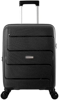 BXDYA 拡張可能なスピナーホイール荷物キャリーオン荷物、スピナーホイールと20インチ軽量トロリースーツケース (Color : Black)