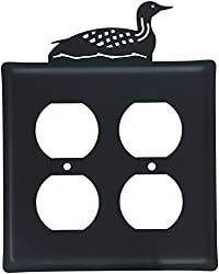 8 Inch Loon Double Outlet Cover