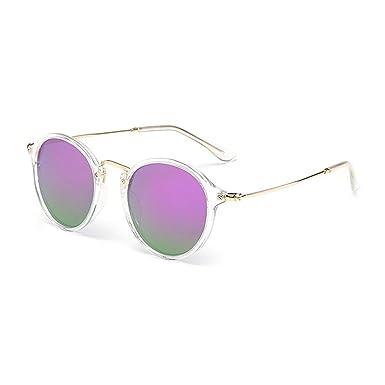 RZXTD Gafas De Sol Gafas De Sol Redondas Con Recubrimiento ...