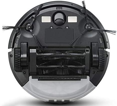 Robot Aspirateur Intelligent Aspirateur, Grande Poubelle 600ML, Aspiration Supérieure 1.2Kpa, Convient pour Tapis Dur, Argent