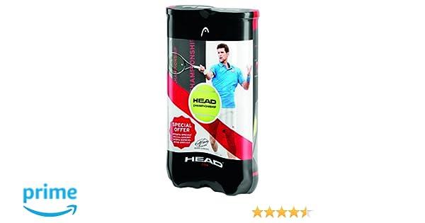 Head Cabeza Unisex Campeonato 2 x 4 Pelotas de Tenis Bi-Pack, Amarillo
