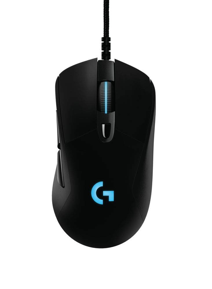 Logitech G403 Hero 16K Gaming Mouse, Lightsync RGB, Lightweight 87G+10G Optional, Braided Cable, 16, 000 DPI, Rubber Side Grips by Logitech G