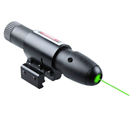 MAYMOC Green Laser Pointer Presenter Pen Aiming Sight laser sight Dot Scope with Ajustable Bracket 11MM, 20MM