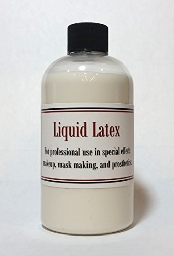 [Liquid Latex 8 oz PRO GRADE Thick Latex for Makeup and Special FX Prosthetics Halloween Masks and] (Prosthetic Fx Makeup Halloween Masks)