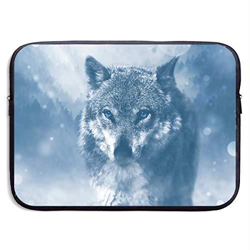 Snow Plow Wolf Classic Laptop Bag Shoulder Messenger Bag Scratch Resistant Computer Bag, For 13 Inch 15 Inch Laptop Case (Mini Snowplow)