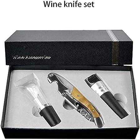 Angelay-Tian Abrel de Vino - abridor de Botellas de Vino de Gama Alta - Manual de Premium sacacorchos para Todo Vino - Conjunto de Regalo de Lujo
