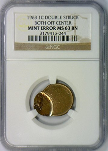 1963 No Mintmark Lincoln Mint Error Cent MS-63 NGC