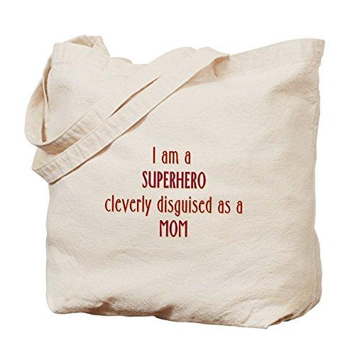 CafePress–superhéroe mamá Tote Bag–Natural gamuza de bolsa de lona bolsa, bolsa de la compra