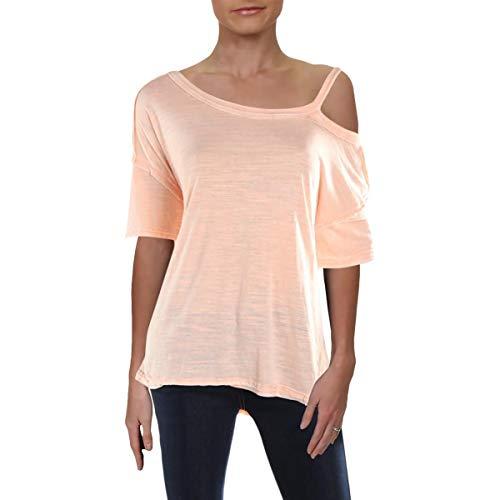 Free People Cotton Camisole - Free People Womens Alex Cold Shoulder Slub T-Shirt Pink XS
