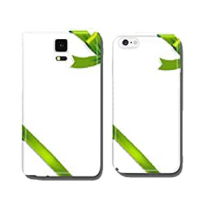 Shiny green satin ribbon on white background cell phone cover case iPhone5