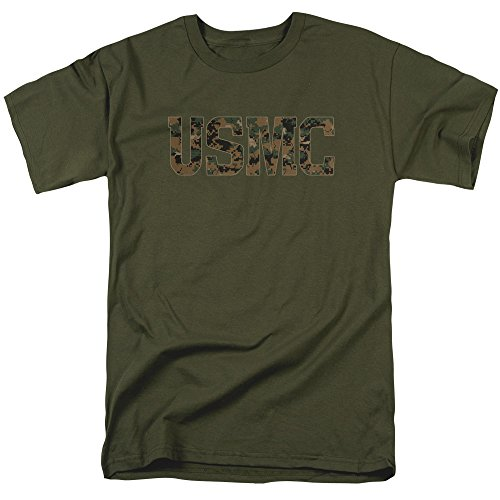 Trevco US Marine Corps USMC Camo Fill Unisex Adult T Shirt For Men and Women