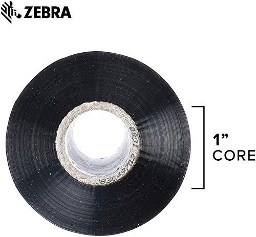 Zebra Standard Black Wax Ribbon for Industrial Thermal Transfer Printers 4.33 in Wide 1476 ft Long 1 in Core 6 Rolls 10031729SP
