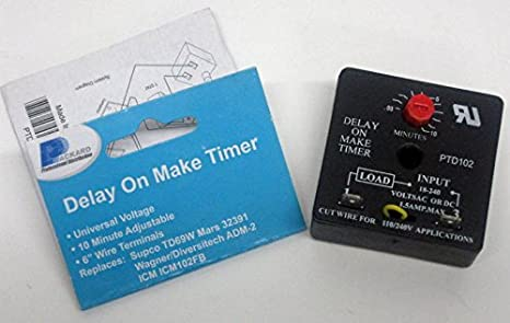 Packard PTD102 Delay on Make Timer Relay on