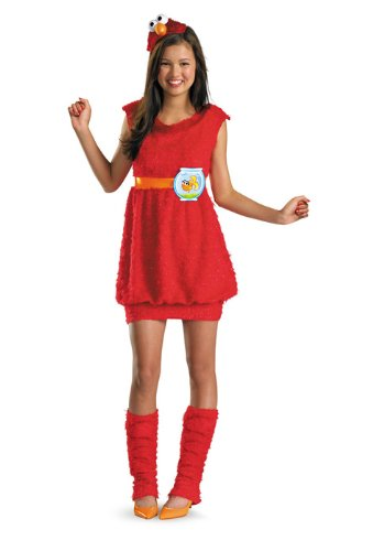 (Disguise Sesame Street Elmo Teen Girls Costume,)