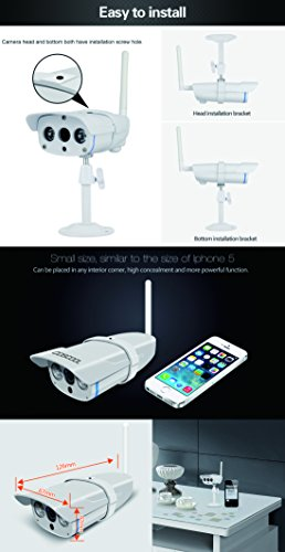 CosCool IP Camera 720P Wireless,Outdoor/Waterproof IP67 level,Surveillance Wifi Camera Network IP Security WebCam,Night Vision 15M,ONIVF Supported,With Metal Housing IP Camera by CosCool (Image #4)