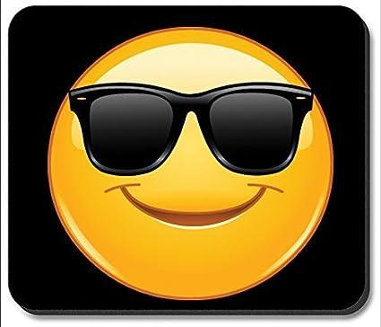 Alfombrilla de ratón – gafas de sol Emoji: Amazon.es: Oficina y ...