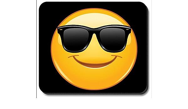 Alfombrilla de ratón – gafas de sol Emoji: Amazon.es: Oficina ...