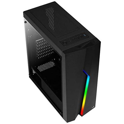 Aerocool BOLT - Caja de PC, ATX, Ventana Total, RGB 13 modos, ventilador 12cm 2