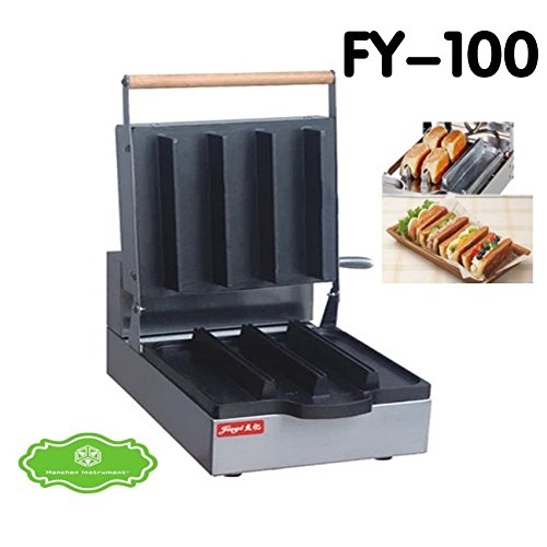 FY-100 Commercial Electric Non-stick Danish Sandwich Waffle Maker Making Machine Toaster Baker (220V)