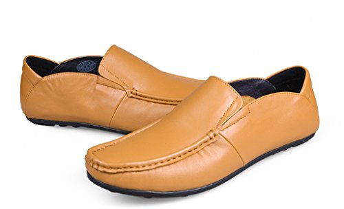 Loafers Dress Leather Walking Brown Ruch Men's Oxford Training Driving Minitoo Casual qpB0Ox