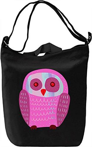 Pink Owl Borsa Giornaliera Canvas Canvas Day Bag| 100% Premium Cotton Canvas| DTG Printing|