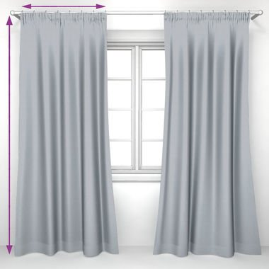 saustark design curtain with gathering tape in basel powder by ikea