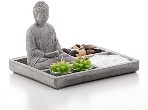 Miniatura Jardín Zen con Buda y velas decoración para su mesa: Amazon.es: Hogar