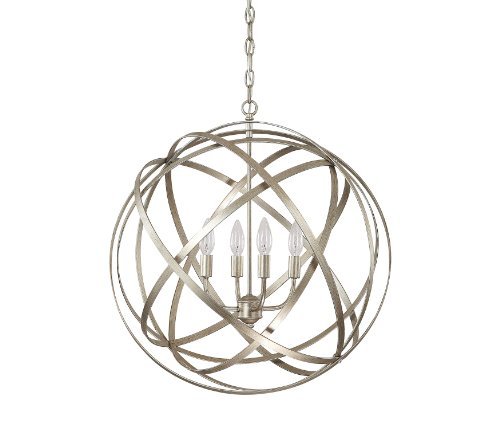 Capital Lighting 4234WG Axis 4-Light Pendant, Winter Gold Finish - Capital Lighting Four